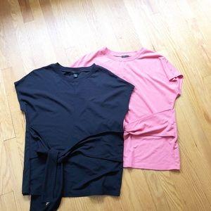 Halogen tie front tops size medium
